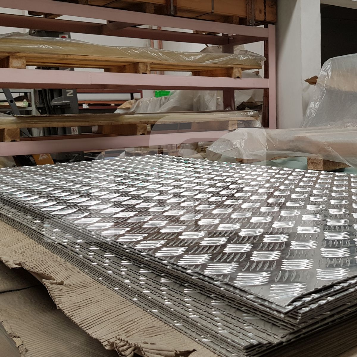 Checkered Aluminium Sheet