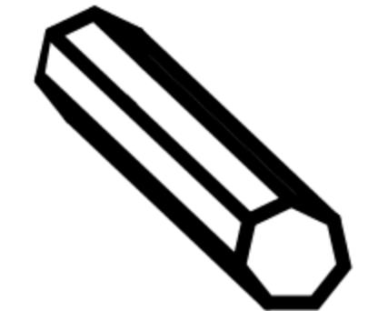 Brass Haxegon Rod